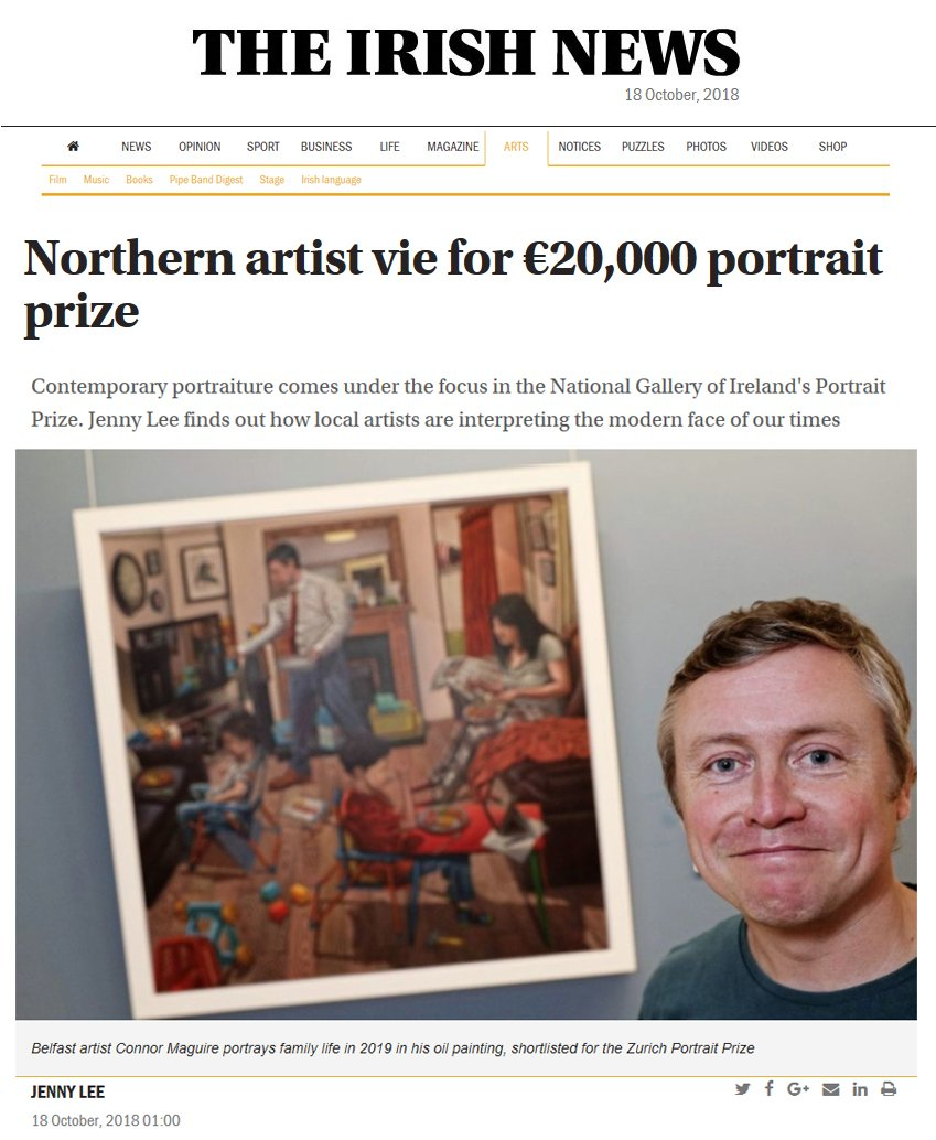 irish news interview zurich portrait prize