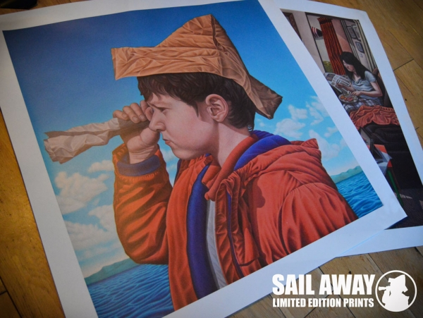 Sail Away-painting by Connor Maguire Irish Artist